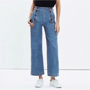 Madewell Rivet & Thread Wide Leg Crop Jeans